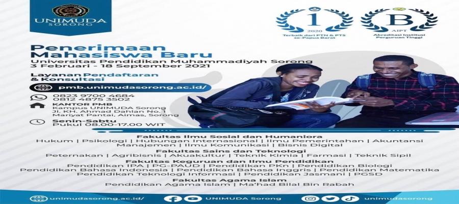 Penerimaan Mahasiswa Baru (PMB) Universitas Pendidikan Muhammadiyah Sorong